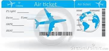 variant of air ticket stock vector image 40110500