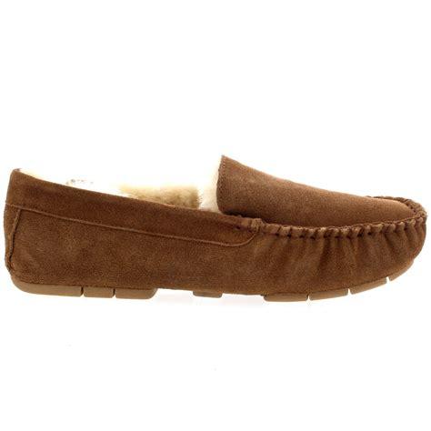 mens shearling moccasin slippers mens genuine australian fur sheepskin fur lined suede