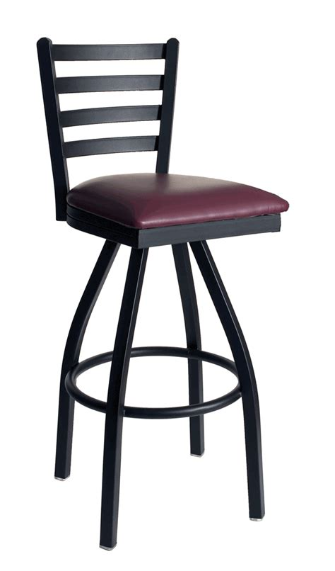 commercial bar stools with backs metal ladder back commercial swivel barstool bar