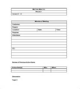 project meeting minutes templates 12 free sle