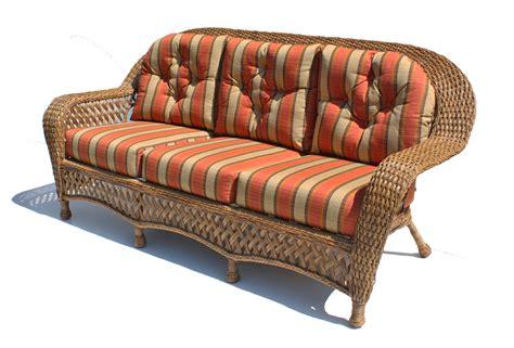 outdoor wicker sofa montauk shown in