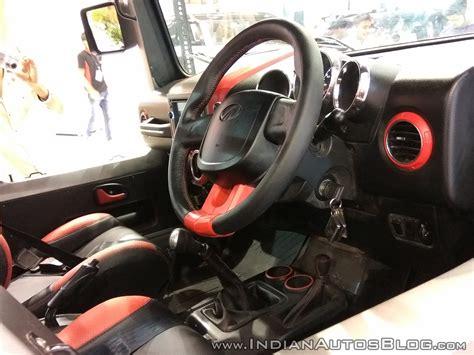 mahindra thar 2017 interior mahindra thar daybreak edition interior autocar