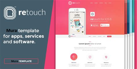 themeforest mobile app retouch mobile app muracms theme by mitrahsoft themeforest