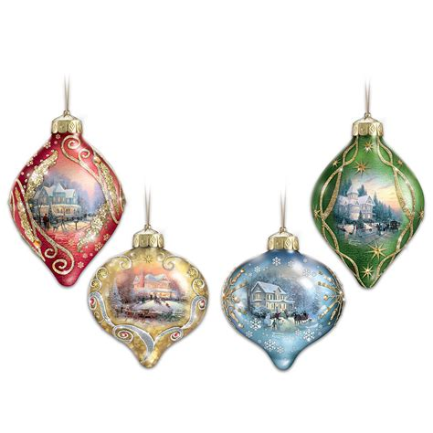 Thomas Kinkade Christmas Tree Ornaments Comfy Christmas Ornaments With Lights