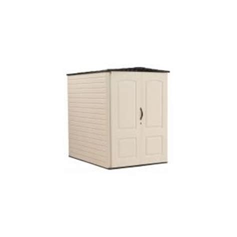 Rubbermaid 2 Ft X 2 Ft Vertical Storage Shed by Rubbermaid 6 Ft X 4 Ft 5 In Large Vertical Plastic Shed
