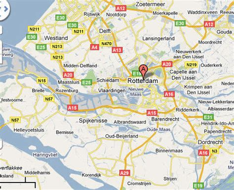 rotterdam netherlands on map rotterdam map printable images