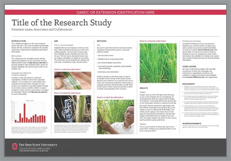 research poster template powerpoint research poster templates the cfaes brand