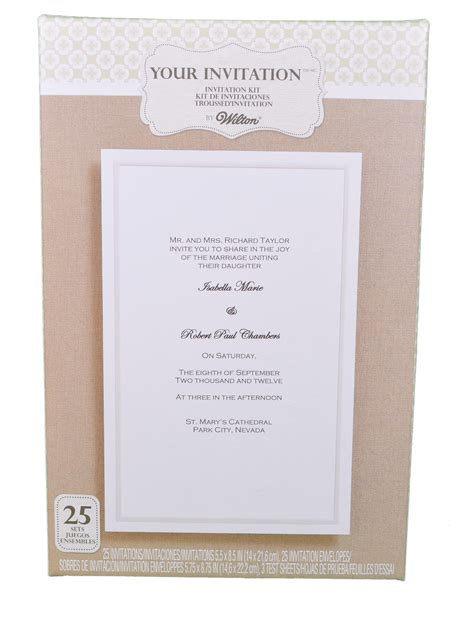 printable wedding invitations wilton set of 25 wilton wedding simplistic white basic invitation