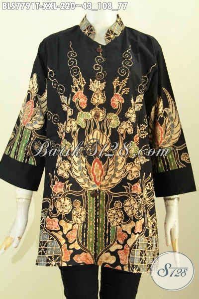 desain baju batik yang keren blus batik wanita gemuk baju batik jawa keren dan elegan