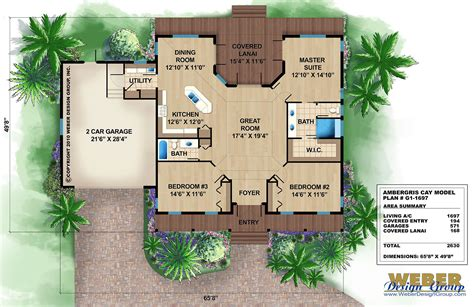 houses and floor plans caribbean house plans tropical island style home