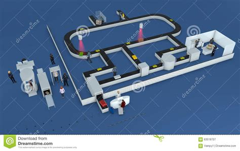 Airport Background Check Airport Check In Baggage Path Stock Illustration Image 63518707