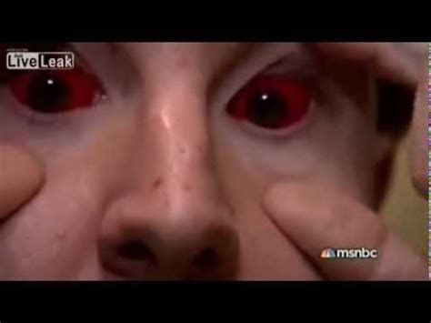 tattoo eyeball prison insane jail footage three inmates tattooed their
