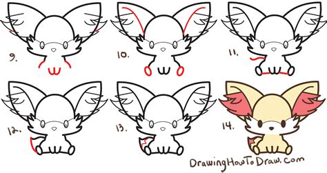 how to draw doodle for beginners learn how to draw fennekin kawaii chibi from