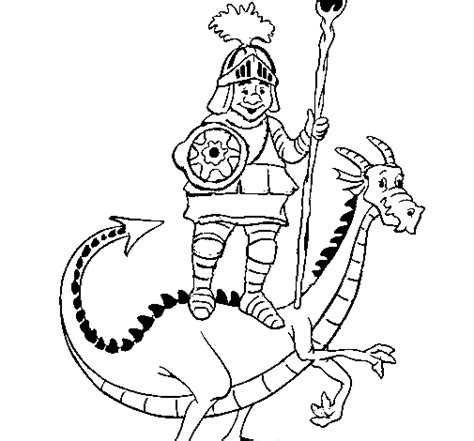 free coloring pages of st george and the dragon