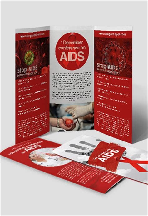 day of fight with aids premium tri fold psd brochure