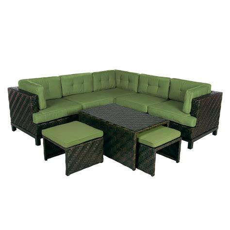 wicker sectional outdoor ae outdoor rachel 8 piece wicker patio sectional seating