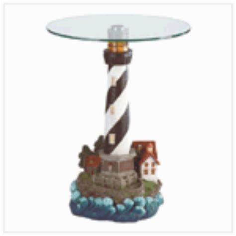 Nautical Bathroom Ideas Lighthouse End Table Www Hannahgoldsgiftcollections Com