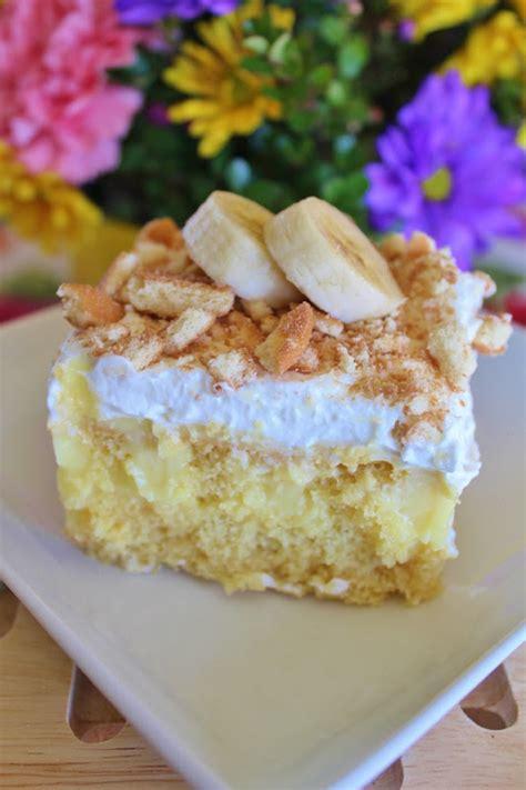 banana yellow box cake banana cream poke cake gotta make this for the lake house