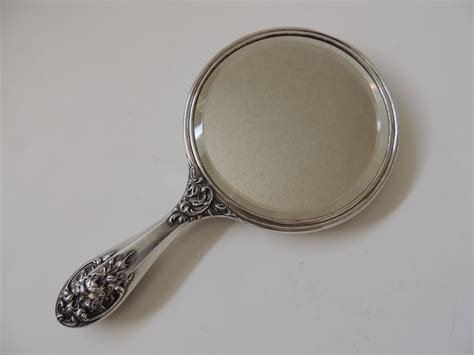 sterling silver hand mirror foster amp bailey from
