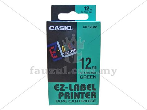 Terlaris Ez Label Printer Casio 12mm Black Ink Blue Xr 12bu1 casio ez label 12mm green xr 12gn1 fauzul enterprise