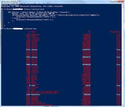 Powershell Format Table by Colors How To Colorise Powershell Output Of Format Table