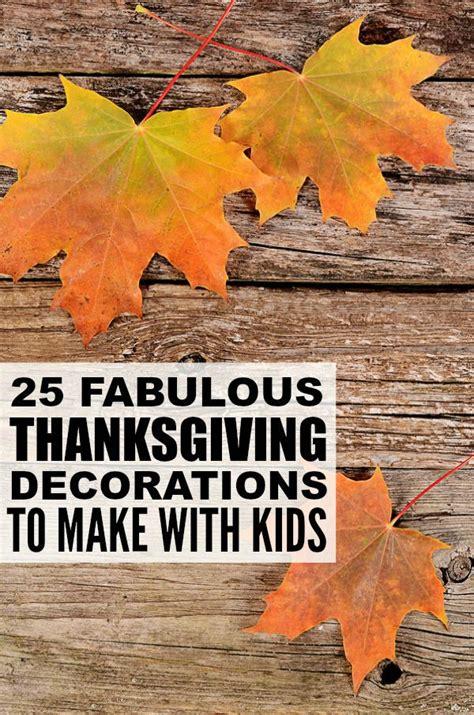 thanksgiving decorations to make at home 25 diy thanksgiving decorations for kids
