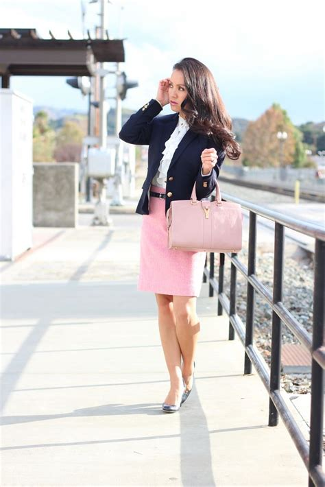 petite skirts shop petite maxi pencil styles stylishpetite com ruffles pink and navy work outfit