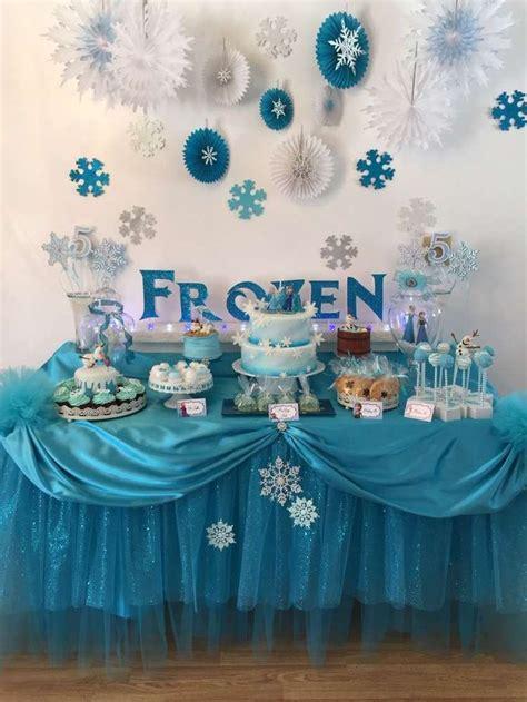 Frozen Table by Oltre 1000 Idee Su Compleanno Frozen Su Frozen