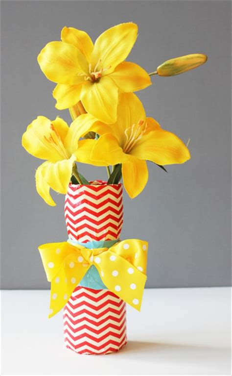 Duct Vase by Duct Poinsettias Flower Tutorial Diy 101 Duct