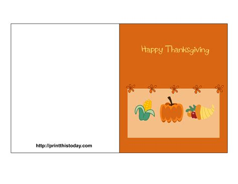 Thanksgiving Card Template For by 9 Best Images Of Thanksgiving Cards That Are Printables