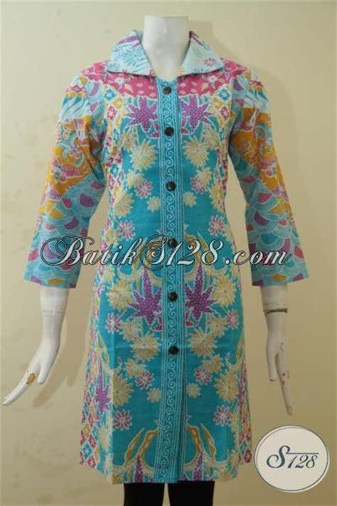 Baju Pesta Anak Warna Biru pakaian batik cewek warna biru kombinasi motif berkelas batik trendy baju pesta proses printing