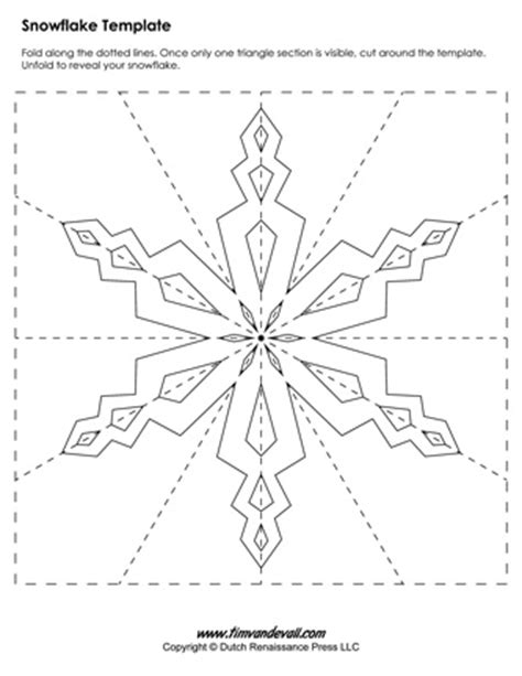 snowflake template paper snowflake templates for crafts