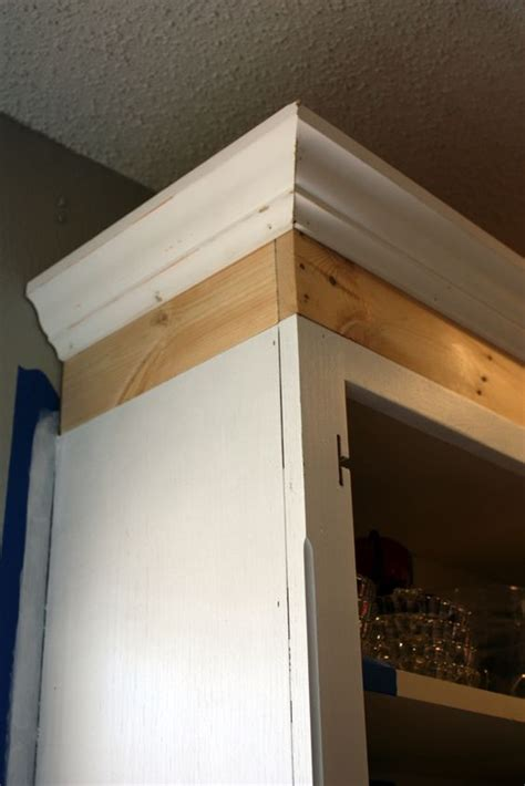 crown paint for kitchen cupboards use molding to upgrade your diy ideas kitchens and moldings on pinterest