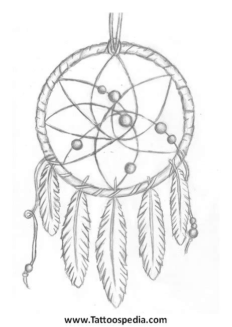 dreamcatcher tattoo outline 3