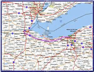Ohio Turnpike Map by Maps Amp Directions