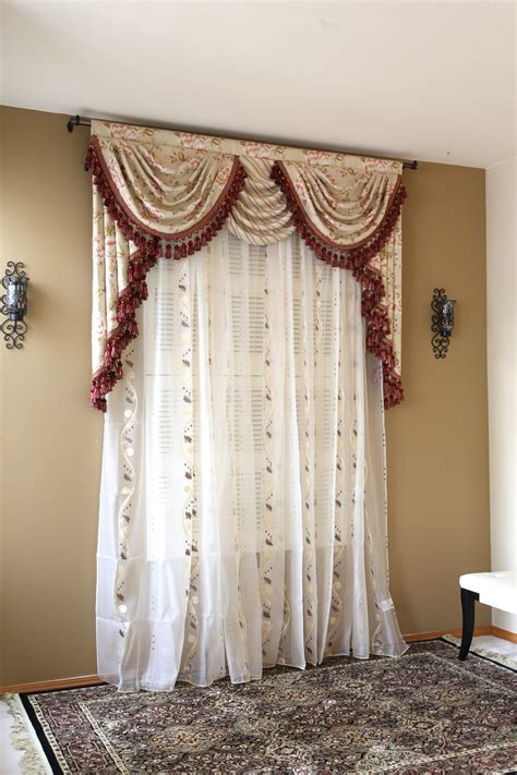 drapes and swags debutante overlapping swag and tail valance curtains