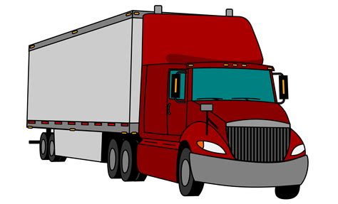trailer images tractor trailer truck clipart www imgkid the image