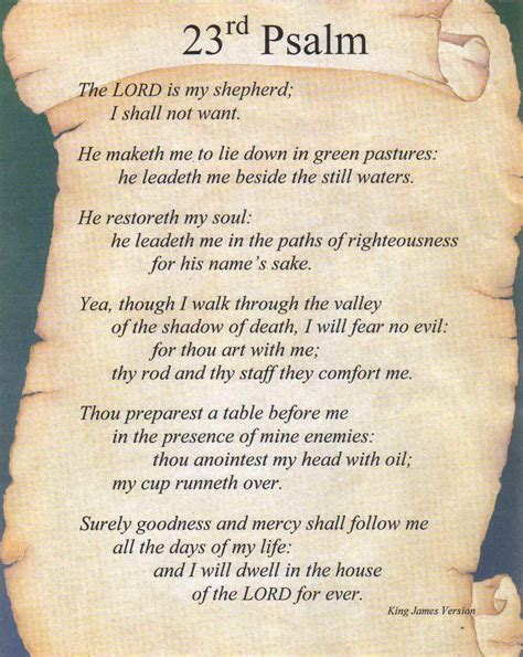 printable version 23rd psalm 23 psalm wallpaper kjv wallpapersafari