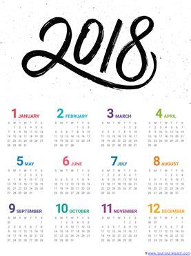 printable calendar year at a glance 2018 2018 year at a glance calendars 1 1 1 1