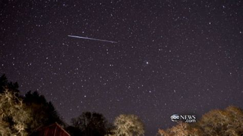 meteor shower causes sonic boom abc news