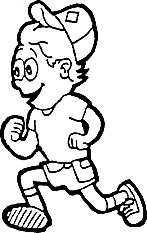 coloring page of boy running kids running clipart clipart panda free clipart images