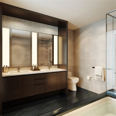 master bathroom mirror ideas luxury waterfront condominium with expansive views of nyc