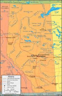 map of canada alberta physical map of alberta canada