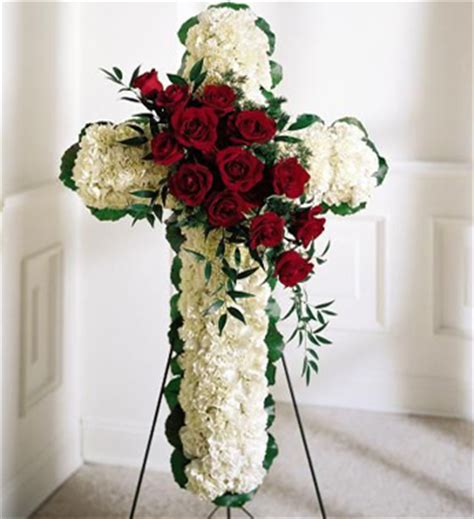 funeral cross spray cross shaped funeral