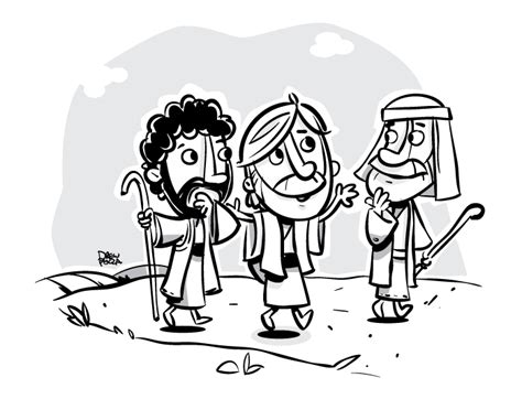 coloring page of jesus on the road to emmaus road to emmaus by pocza on deviantart