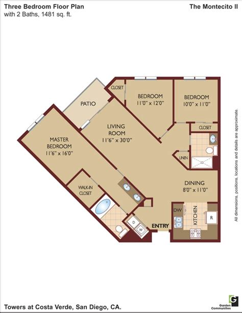 costa verde village floor plans towers at costa verde apartments in san diego california