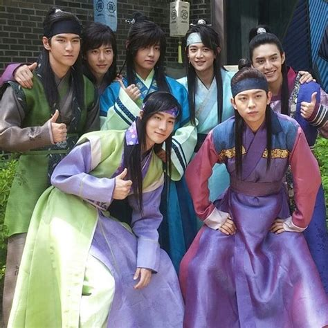 film korea update taehyung with the hwarang cast swsw0616 ig update bts