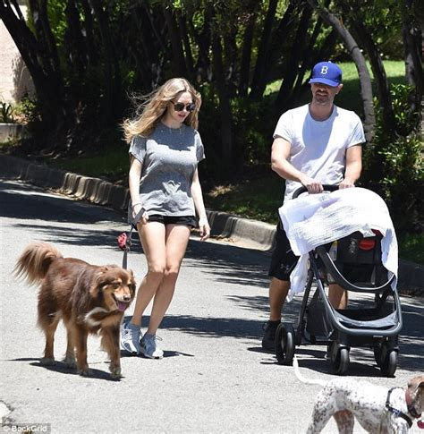 amanda seyfried baby picture amanda seyfried and husband walk with baby daughter in la