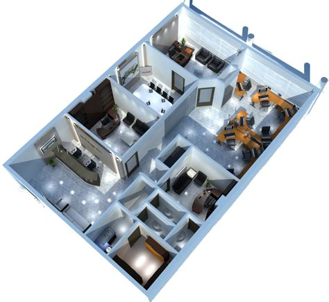 Apartment Layout Planner scene interior building office 3d model