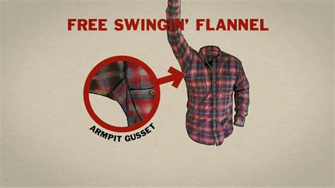 duluth trading free swinging flannel duluth trading free swingin flannel tv spot manly